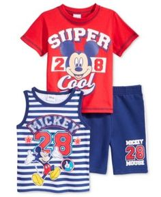 efec65fa Disney Mickey Mouse T-Shirt, Tank Top & Shorts Set, Toddler & Little Boys ( 2T-7) & Reviews - Sets & Outfits - Kids - Macy's