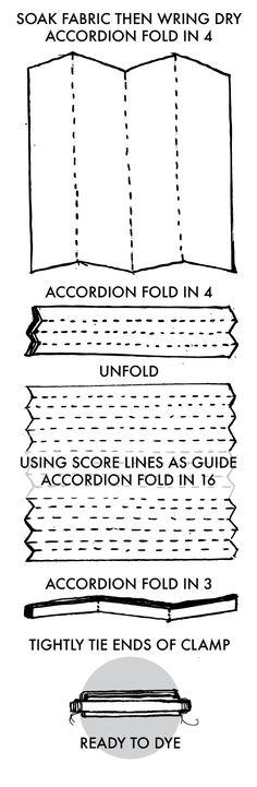 Clamped Shibori Stripe Instructions