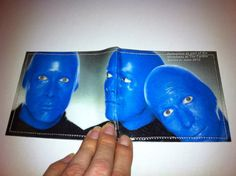 Blue Man Group Slim Wallet from Recycled Broadway by AlbumCoverArt, $15.75