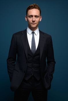 Actor Tom Hiddleston of 'Only Lovers Left Alive' poses at the Guess Portrait Studio during 2013 Toronto International Film Festival on September 6, 2013 in Toronto, Canada.