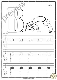 A set of 26 music worksheets is created to help your students learn to trace, copy, color and draw notes on the staff {Treble pitch}. {C first – A second octaves} - Kids education and learning acts Music Lessons For Kids, Music For Kids, Piano Lessons, Teaching Music, Teaching Kids, Music Theory Worksheets, Piano Recital, Music Classroom, Worksheets For Kids