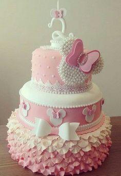 New Birthday Cake Girls Fondant Minnie Mouse Ideas Minnie Mouse Party Decorations, Minnie Mouse Birthday Cakes, Minnie Mouse Baby Shower, Birthday Cake Girls, Birthday Kids, Mickey Birthday, Bolo Mickey, Mickey Cakes, Minnie Mouse Cake