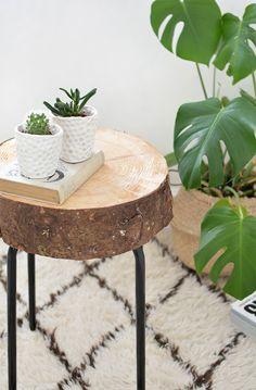 DIY | wooden side table ikea hack