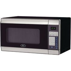 .7 Cu Ft- 700w - 10 Power Levels - 1-touch Presets Such As Potato Popcorn Pizza Beverage Frozen Dinner & Reheat - Cooking Timer - Digital Clock - Pushbutton Door - Built-in Ac Power Cable - Stainless