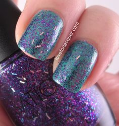 For a sparkling, royal touch, layer Sation's Periwinkle Princess over your mani!  www.loveforlacquer.com