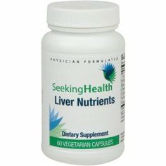 Liver Nutrients | Provides A Balanced Combination Of Natural Nutrients That Support Liver Detoxification | 60 Easy-To-Swallow Vegetarian Capsules | Free Of Common Allergens by Seeking Health. Save 5 Off!. $19.95. Provides a balanced combination of all natural nutrients Milk Thistle, N-Acetyl-L-Cysteine, Alpha-Lipoic Acid, L-Methionine, L-Cysteine, Taurine, and Trimethylglycine (betaine) to enhance and protect hepatic function by supporting liver detoxification processes and enzymatic…
