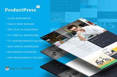 ProductPress EDD WordPress Theme by WPTiE on @Graphicsauthor