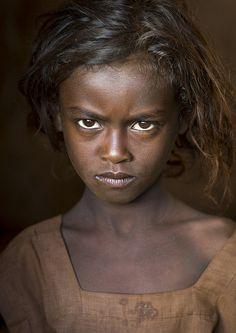 Nena de la tribu Borana, Kènia.