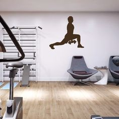 Vinyl Sticker Sport Team  Fitness Training Barbell Weight Bodybuilder Athlete Gym Wall Decal Sports Club Home Decor Mural H-11