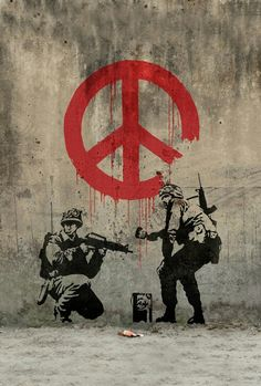 Banksy - Soldiers Painting Peace