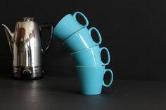 Vintage Turquoise Shenango China Tea Coffee Cup Set of by Circa810, $20.00