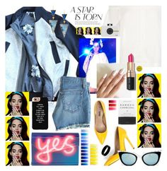 """""""lights camera action"""" by cutandpaste ❤ liked on Polyvore featuring Lucille, lululemon, AG Adriano Goldschmied, Casetify, Lana, Bobbi Brown Cosmetics, Jimmy Choo, Herbivore, Fendi and West Coast Jewelry"""