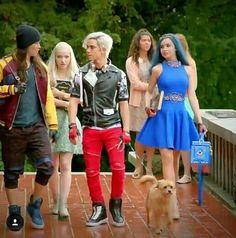 Descendants 2 Dove Cameron as Mal Sofia Carson as Evie Booboo Stewart as Jay and Cameron Boyce as Carlos