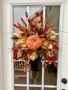Pumpkin Centerpieces, Christmas Centerpieces, Fall Door Decorations, Thanksgiving Decorations, Fall Garland, Wreath Fall, Fall Vignettes, Fall Containers, Fall Floral Arrangements