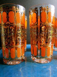 Mid Century Culver Glassware Vintage Housewares by LemonRoseStudio