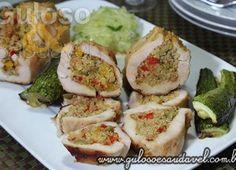 Filé de Peito de Frango Recheado com Quinoa