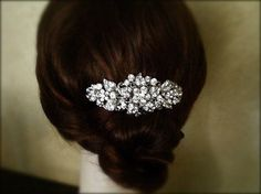 BEST SELLER Vintage Inspired crystal Hair Comb by Lolambridal, $93.00