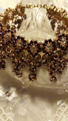 Vintage Amethyst Rhinestone Bracelet