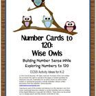 Colorful owl themed number cards can be used with the activity instructions included in this unit or with Number Cards to 120: Workstation Activity...