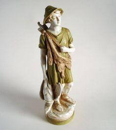 Large Royal Dux Porcelain Figure of a Hunter by Alois Hampel c1920