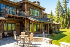 Exterior of luxury home in Whitefish, Montana