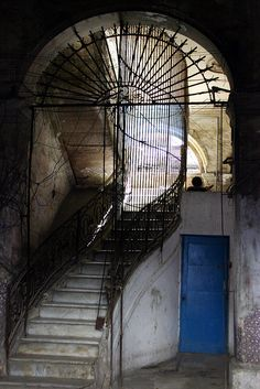 A staircase in Cuba