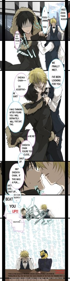 Image discovered by シ二テカ. Find images and videos about cute, anime and kawaii on We Heart It - the app to get lost in what you love. Izaya Orihara, Shizaya, Durarara, Anime Love, Anime Guys, Gay Aesthetic, Anime Manga, Anime Chibi, Shounen Ai