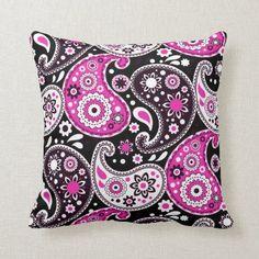 Hot Pink Paisley Pattern Girls Dorm Room Throw Pillow Taurus Woman, Taurus Female, Taurus Taurus, Dorm Pillows, Throw Pillows, Zodiac Characteristics, Girl Dorms, College Dorm Decorations, Bedroom Accessories
