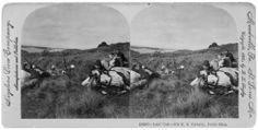 Last call – 5th U.S. Cavalry es una fotografía con un espectacular efecto tridimensional tomada en Puerto Rico y publicada por Keystone View Co. en 1900.