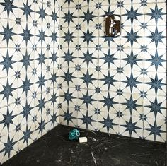 These Scintilla Sapphire Star Pattern Tiles are perfect for creating a vintage styled statement floor in any interior space and have a characterful aged look. Boho Bathroom, Downstairs Bathroom, Small Bathroom, Bathroom Ideas, Bronze Bathroom, Floor Patterns, Star Patterns, Tile Patterns, Stiffkey Blue