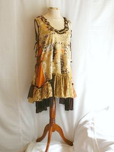 Schabby Chic Style Tattered Upcycled Woman's Dress by cutrag, $76.54