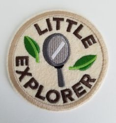 Most current Free of Charge Embroidery Patches backpack Concepts Little Explorer Embroidery Patch – felt patches, ironon, sew on patch, kid patches – backpack Types Of Embroidery, Embroidery Patches, Embroidery Thread, Pin And Patches, Sew On Patches, Iron On Patches, Sewing Room Decor, Sewing Rooms, Panel Quilts