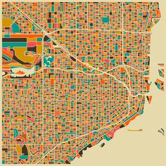 Map of Miami, by Jazz Berry Blue.