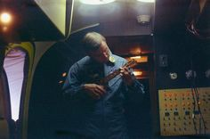 Neil Armstrong plays ukulele