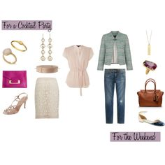 """""""Two Ways: Blush Blouse"""" by caphillstyle on Polyvore"""