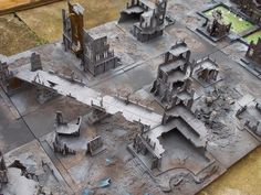 Great inspiration for Necromunda. Warhammer Terrain, 40k Terrain, Game Terrain, Warhammer 40k Art, Wargaming Terrain, Tabletop, Space Marine, Great Pictures, Dungeons And Dragons