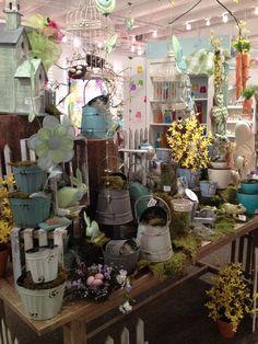 Spring Display from our Dallas Showroom @Dallas Market  Summer 2013! #burtonandburton #spring