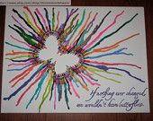 butterfly crayon art - Google Search