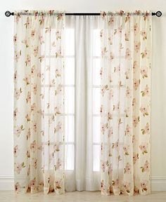 """CHF Waterlily Scroll 50"""" x 63"""" Panel - Curtains & Drapes - For The Home - Macy's"""