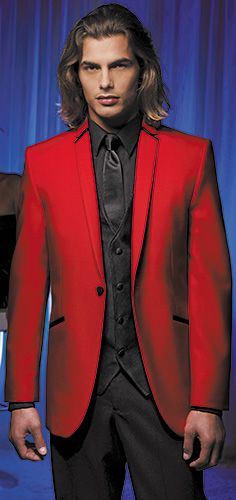 Since 1975 Paul Morrell Formalwear has partnered with Men's Tuxedo, Wedding and Event Specialists to deliver the finest wholesale tuxedo rental experience. Tuxedo Wedding Suit, Wedding Suits, Wedding Tuxedos, Wedding Cakes, Red Sports Coat, Brad Pitt, Red Tuxedo, Black Tie Affair, Red Blazer