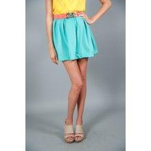 Lite Brite Skirt-Turquoise - $40.00