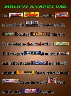 How baby candy bars are made