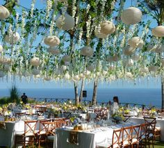 Khayangan Estate, Uluwatu. Natural Crossback Chairs view a view.. understatement. Styling and planning by Cher Ange Weddings & Events Furniture by Bali Event Hire.