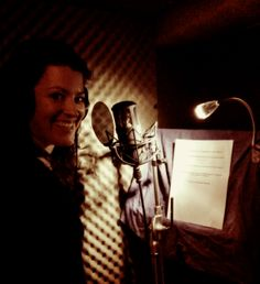 Fabulous Gigi Bergdorf recording her Radio Drama voice reel in the Sounds Wilde studio - January 2014