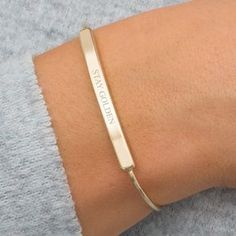 Personalised Skinny Bar Bracelet. Discover the latest, trend-led jewellery from the UK's best small creative businesses.