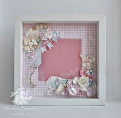 Anastasia Podvintseva: Рамочки для девочек-сестричек Shabby Flowers и одна винтажная открытка)
