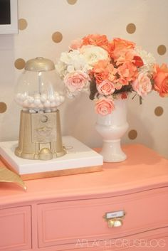 Gold gumball machine DIY--silver with kitty treats