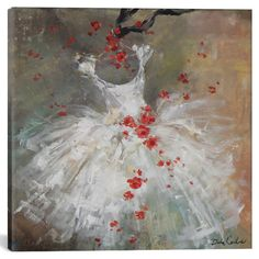 """ In Blues"" Original Canvas Shabby Chic Tutu and Roses Painting by Debi Coules - Debi Coules Romantic Art Dress Painting, Painting Prints, Art Print, Laurence Amelie, Canvas Artwork, Canvas Prints, Romantic Shabby Chic, Ballet Art, Painting Inspiration"