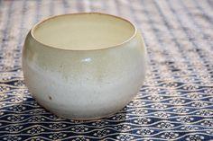 miho massey - yellow salt with blue chun rim - oxidation
