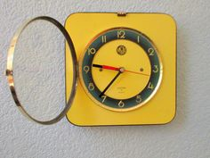 French 1950-60s Atomic Age SMI Bright Yellow with by Decofanatique